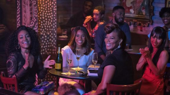 """<strong>""""Girls Trip""""</strong>: Tiffany Haddish, Regina Hall, Queen Latifah and Jada Pinkett Smith head to the Essence Music Festival in New Orleans for some fun in this romp that became a breakout hit. <strong>(HBO Now) </strong>"""