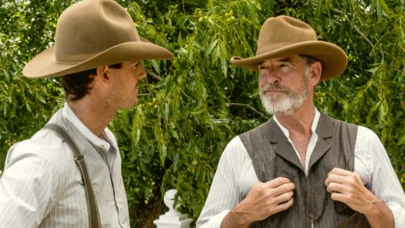 """<strong>""""The Son"""" Season 1</strong>: Pierce Brosnan and Henry Garrett star as Eli McCullough and Pete McCullough in this generational drama, which tells the story of America's rise as a superpower through the struggle of a Texas oil empire. <strong>(Hulu) </strong>"""