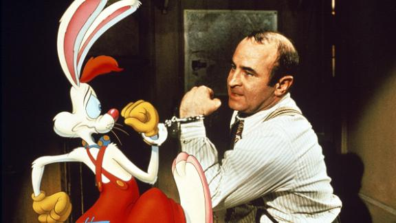 """<strong>""""Who Framed Roger Rabbit</strong>"""": Bob Hoskins shares the screen with animated characters in this comedy about a cartoon-hating detective who is the only hope to proving a cartoon rabbit's innocence after he is accused of murder.<strong> (Hulu) </strong>"""