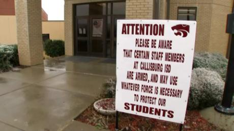 callisburg texas school district armed teachers lavandera pkg_00000401