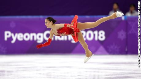 GANGNEUNG, SOUTH KOREA - FEBRUARY 23:  Alina Zagitova of Olympic Athlete from Russia competes during the Ladies Single Skating Free Skating on day fourteen of the PyeongChang 2018 Winter Olympic Games at Gangneung Ice Arena on February 23, 2018 in Gangneung, South Korea.  (Photo by Richard Heathcote/Getty Images)