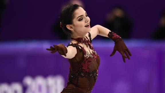 Russia's Evgenia Medvedeva competes in the women's single skating free skating.
