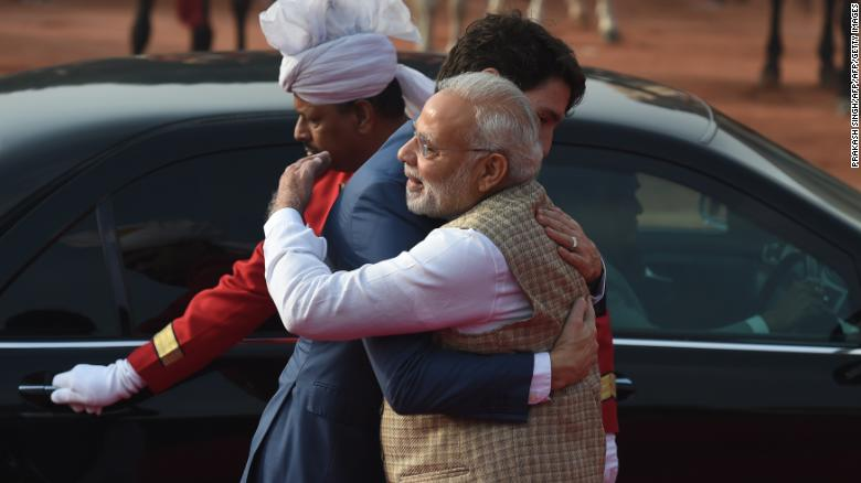 Trudeau's India trip ends with a hug