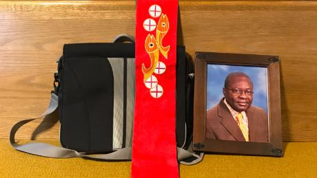ICE arrested him. His church put his photo in a pew so no one would forget.