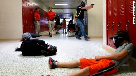 Faculty members of Clarksville Schools in Arkansas undergo firearms training yearly.