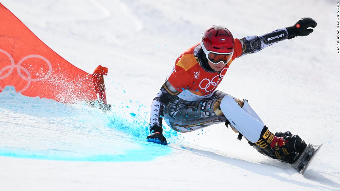 Czech snowboarder Ester Ledecka won the parallel giant slalom, becoming the first athlete to win gold medals in snowboarding and Alpine skiing at the same Olympics. She won the super-G last week.