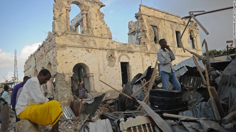 Image result for Somalia Double Bomb Attack Killed 45 People