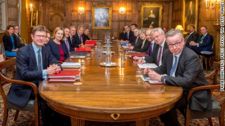 Theresa May meets with her Cabinet at Chequers to discuss the UK's future relationship with the EU.