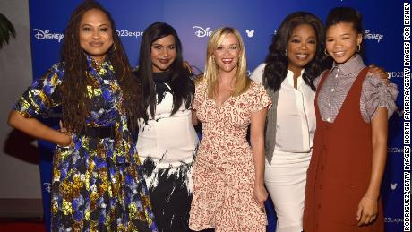 Director Ava DuVernay, actors Mindy Kaling, Reese Witherspoon, Oprah Winfrey, and Storm Reid of 'A Wrinkle in Time'