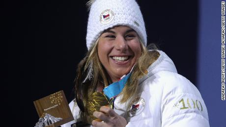 Ledecka won the snowboard parallel giant slalom gold after clinching super-G gold in skiing.