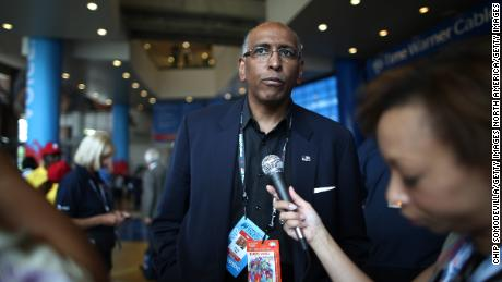 CHARLOTTE, NC - SEPTEMBER 05:  Former chairman of the Republican National Committee Michael S. Steele attends day two of the Democratic National Convention at Time Warner Cable Arena on September 5, 2012 in Charlotte, North Carolina. (Photo by Chip Somodevilla/Getty Images)