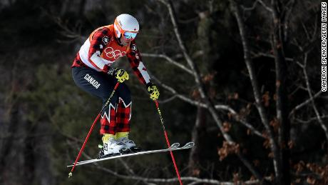 David Duncan competes in the freestyle skiing men's ski cross seeding on Wednesday.