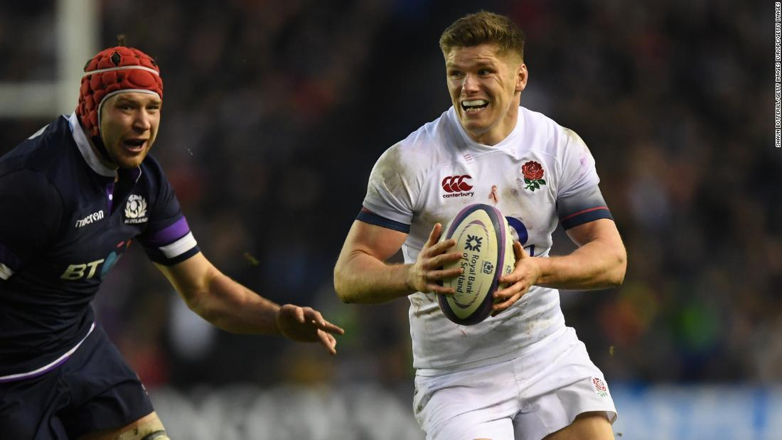 Owen Farrell broke clear to score an early try for England in the second half which he also converted.