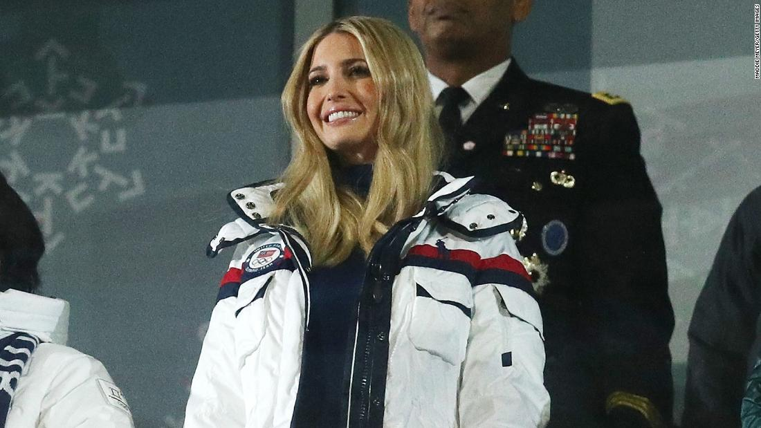 Ivanka Trump stands and claps for North and South Korean Olympic Athletes