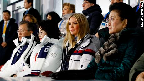 Ivanka Trump, daughter of President Donald Trump, at the closing ceremony of the Olympics