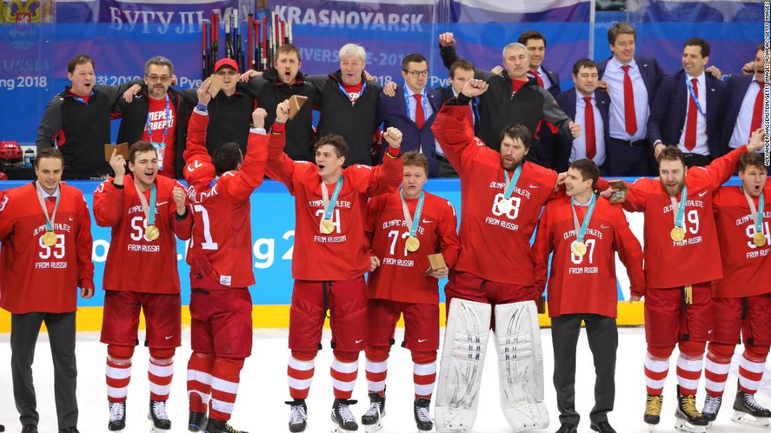 PyeongChang 2018: Russians win men's ice hockey gold -- then