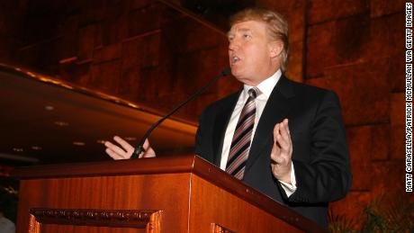 Donald Trump attends the launch of his first luxury development in Panama, Trump Ocean Club, International Hotel & Tower at Trump Tower on April 24, 2006 in New York City. (Matt Carasella/Patrick McMullan via Getty Images)