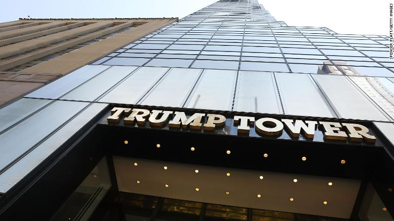 NEW YORK, NY - AUGUST 04:  Trump Tower stands in Manhattan on August 4, 2017 in New York City. Following a dispute with the Trump Organization over a lease, the Secret Service, which protects all US presidents, has moved to a small trailer on a side street outside of Trump Tower. The federal agency had been renting office space in Donald Trump's Midtown Manhattan skyscraper since 2015 before a disagreement over the terms and costs for rent for a command post.  (Photo by Spencer Platt/Getty Images)