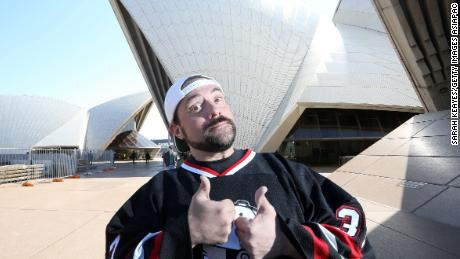 Kevin Smith  (aka Silent Bob of Jay and Silent Bob) during a media call at Sydney Opera House on September 18, 2015 in Sydney, Australia.
