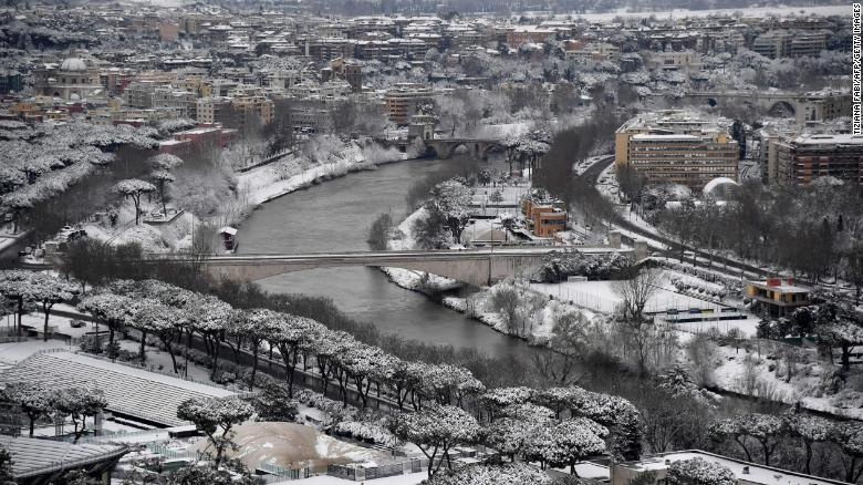 Rome experienced its coldest weather in almost five years.