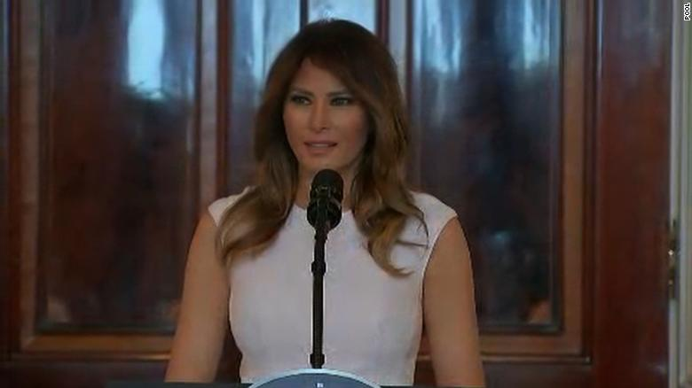 Melania Trump 'heartened' by student activist