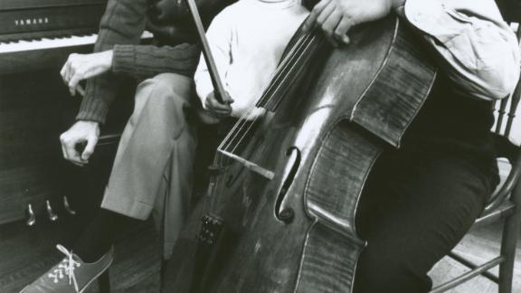 Yo-Ya Ma and son Nicholas with Fred Rogers