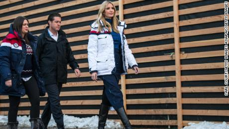 PYEONGCHANG-GUN, SOUTH KOREA - FEBRUARY 25: Ivanka Trump (R) arrives