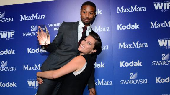 Actor Michael B. Jordan (L) and cinematographer Rachel Morrison attend Women In Film's 2013 Crystal + Lucy Awards at The Beverly Hilton Hotel on June 12, 2013 in Beverly Hills, California.