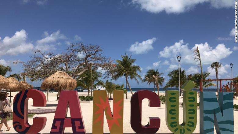 Cancun, Mexico, is a popular destination for many American tourists during spring break.
