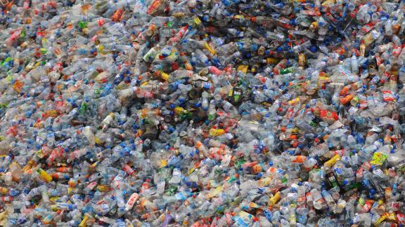 WUHAN, CHINA - OCTOBER 29: (CHINA OUT)  Used plastic bottles remain heaped up at a plastics recycling mill which is ceasing production as the global financial crisis starts to bite in China
