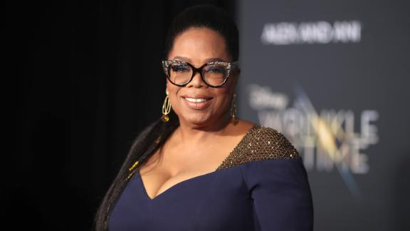 "LOS ANGELES, CA - FEBRUARY 26:  Oprah Winfrey attends the premiere of Disney's ""A Wrinkle In Time"" at the El Capitan Theatre on February 26, 2018 in Los Angeles, California.  (Photo by Christopher Polk/Getty Images)"