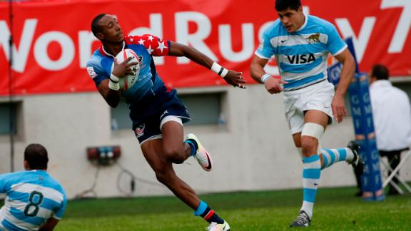 The speedster is thought to have clocked close to 10.5 seconds over 100 meters. Since signing a contract with US sevens in 2014, Baker has set the rugby world alight bagging 170 tries in 189 matches on the Sevens World Series circuit.