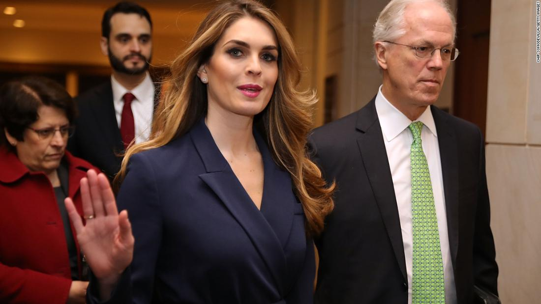 Hope Hicks' totally ridiculous explanation for why she quit