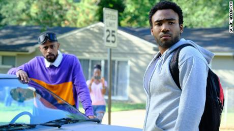 "Lakeith Stanfield stars as Darius and Donald Glover as Earnest Marks on the FX series ""Atlanta."""