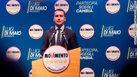 Luigi Di Maio, leader of the Five Star Movement, hopes to become the next prime minister.