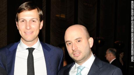 NEW YORK, NY - MARCH 14:  (L-R) Josh Raffel, Jared Kushner and Matthew Hiltzik attend The New York Observer 25th Anniversary at Four Seasons Restaurant on March 14, 2013 in New York City. (Photo by Paul Bruinooge/Patrick McMullan via Getty Images)