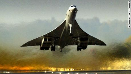 Concorde takes off from Heathrow