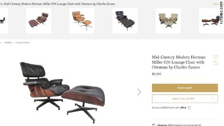 An Eames chair offered online.