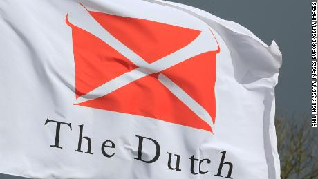 SPIJK, NETHERLANDS - OCTOBER 06:  The Dutch Golf Club flag flies in the wind during the first round of the Dutch Senior Masters played at The Dutch on October 6, 2017 in Spijk, Netherlands.  (Photo by Phil Inglis/Getty Images)