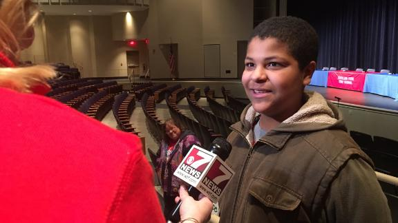 Gideon Titus-Glover  interviewed after his comments to West Virginia Governor Jim Justice.