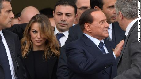 Berlusconi pictured with girlfriend Francesca Pascale (L) in 2013.