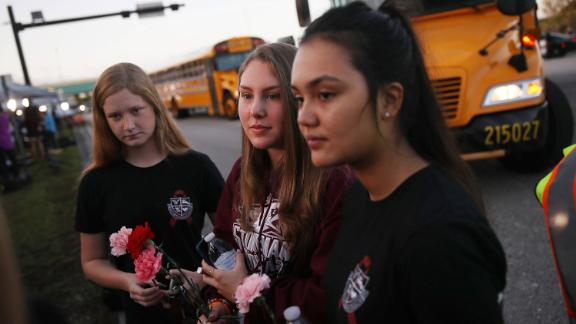 Marjory Stoneman Douglas students return to school two weeks after a mass shooting at the school.
