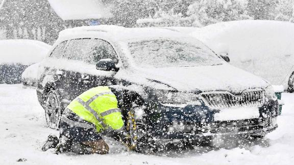 """A blast of Siberian weather dubbed """"The Beast from the East"""" has sent temperatures plunging across much of Europe."""