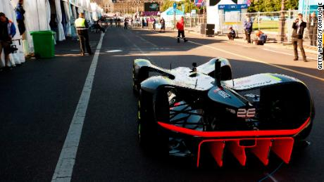 A Robocar in the pits during the FIA Formula E Championship Paris ePrix in May, 2017.
