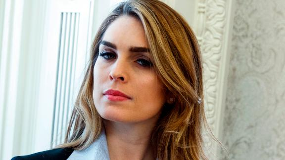 In this Feb. 9, 2018 photo, White House Communications Director Hope Hicks is shown during a meeting in the Oval Office between President Donald Trump and Shane Bouvet, in Washington. Hicks is scheduled to meet with the House intelligence committee Tuesday for a closed-door interview as part of the panel's Russia investigation. (AP Photo/Evan Vucci)