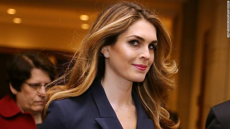 WASHINGTON, DC - FEBRUARY 27:  White House Communications Director and presidential advisor Hope Hicks (2nd L) arrives at the U.S. Capitol Visitors Center February 27, 2018 in Washington, DC. Hicks is scheduled to testify behind closed doors to the House Intelligence Committee in its ongoing investigation into Russia's interference in the 2016 election.  (Photo by Chip Somodevilla/Getty Images) *** BESTPIX **