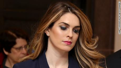 WASHINGTON, DC - FEBRUARY 27:  White House Communications Director and presidential advisor Hope Hicks (C) arrives at the U.S. Capitol Visitors Center February 27, 2018 in Washington, DC. Hicks is scheduled to testify behind closed doors to the House Intelligence Committee in its ongoing investigation into Russia's interference in the 2016 election.  (Photo by Chip Somodevilla/Getty Images)