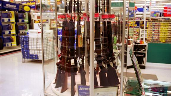 373812 01: Guns for sale at a Wal-Mart, July 19, 2000. Wal-Mart and one of their chief spokespeople, Rosie O