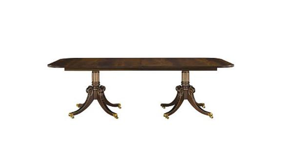 "One Newport Dining Table Top (96-144"") in Medium Mahogany. The cost of this table is $3,113.00."