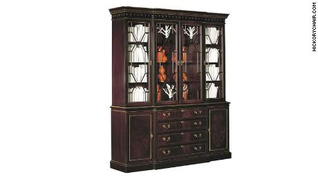 One breakfront from the James River Collection in Medium Mahogany finish. The cost of this item is $7,091.